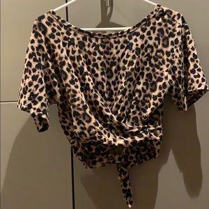 Victoria's Secret Leopard tie crop top